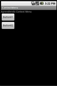 Ejemplo Context Menu Android