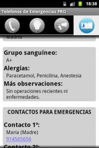 Captura de pantalla - Telefonos de Emergencia PRO Android 5