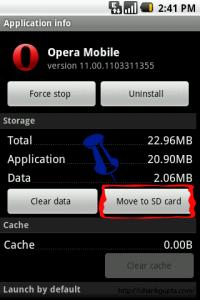 Memoria del teléfono a la SD Card