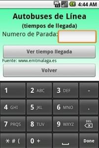 Como mostrar teclado virtual numérico solamente, ejemplo Málaga en un Clic