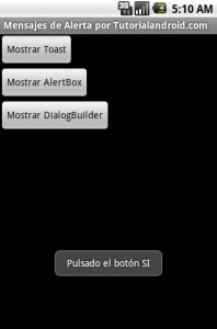Programacion Android - AlertDialog 4
