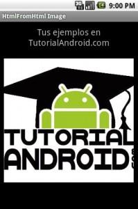 Imagen en fromHTML by TutorialAndroidcom